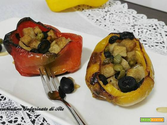 Scrigni di peperoni ai pinoli