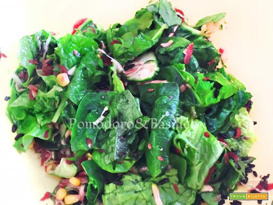 Insalata di spinaci e riso venere