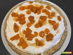 Torta con crema di albicocche