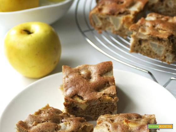 Torta di grano saraceno, con mele e pere