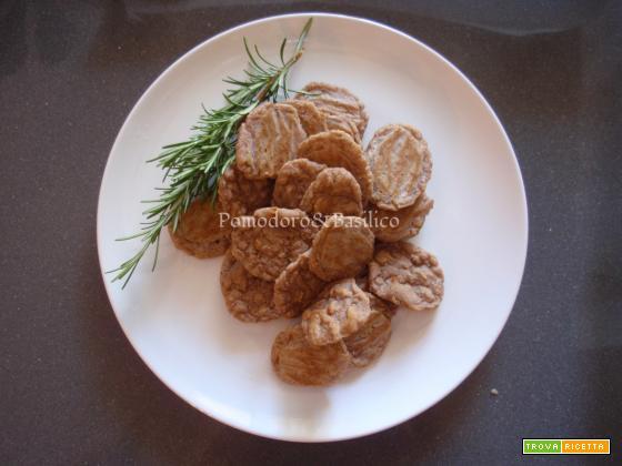Chips di fagioli e riso al rosmarino
