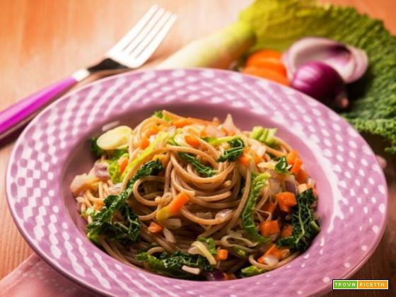 Un piatto green: gli spaghetti vegetariani