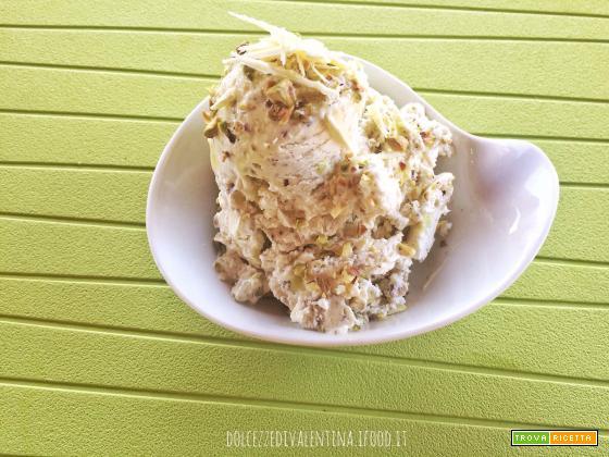 Gelato al pistacchio e cioccolato bianco