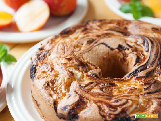 Angel cake alla crema di pesche