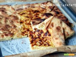 Torta salata di porri e patate