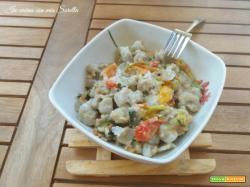 Gnocchi viola con mozzarella e verdure estive
