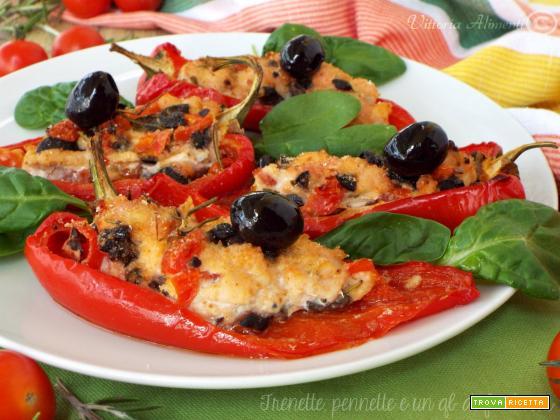 Cornetti di peperone con pollo..gratinati !!