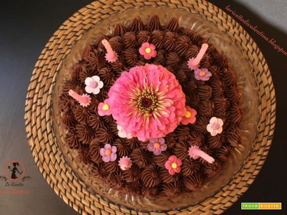 Torta al cioccolato per il 5° compleanno delle mie bimbe