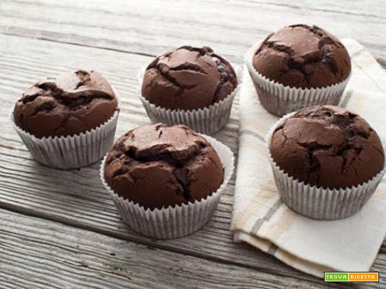MUFFIN AL CIOCCOLATO E YOGURT GRECO