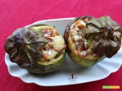 Zucchine tonde ripiene vegetariane, ricetta per friggitrice ad aria