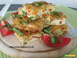 Frittata al forno con julienne di verdure