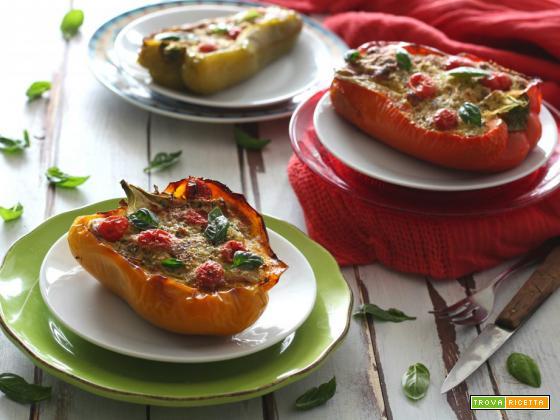 Peperoni ripieni di melanzane – ricetta vegetariana