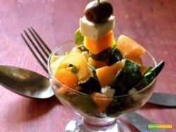 Insalata di melone e songino: tanta freschezza