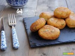 Frittelle di patate lesse con mozzarella
