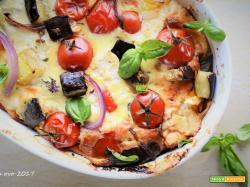 Clafoutis alle verdure e formaggio di capra