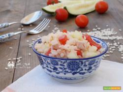 Insalata di riso con cetrioli