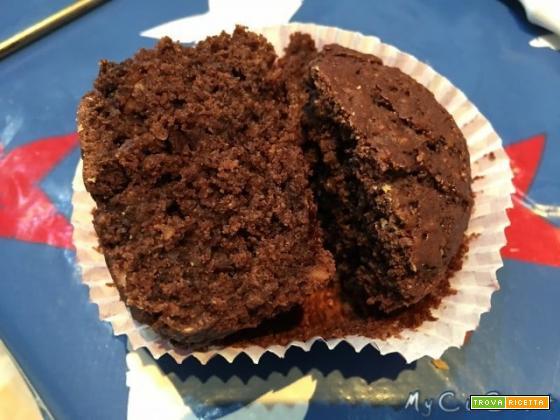 Muffin alla nocciola e cacao con Cuisine e i-Companion Moulinex