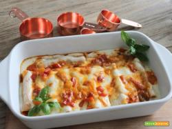 Cannelloni al forno con i peperoni