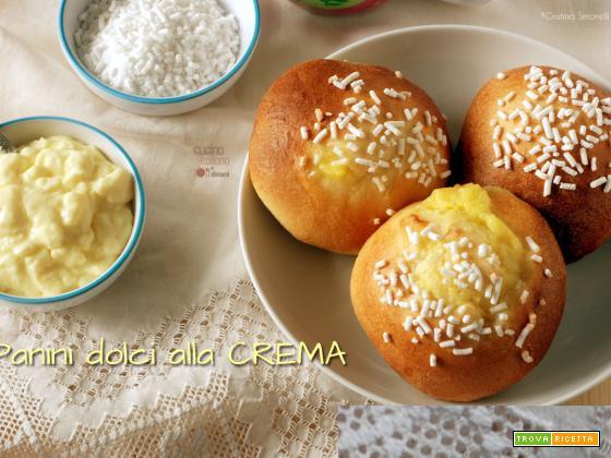 Panini dolci alla crema