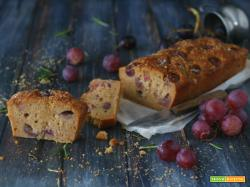Plumcake vegan con uva zenzero e rosmarino