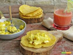 Una colazione originale? Provate le tortillas con uova