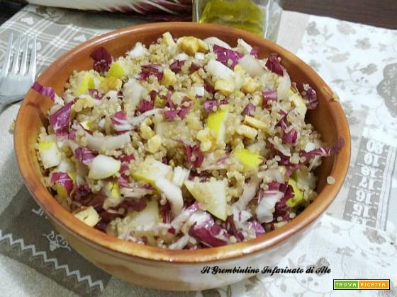 Quinoa integrale alle pere e noci