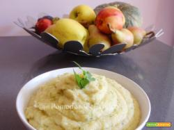 Puré di patate con crema di zucchine