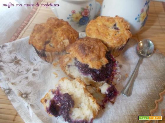 Muffin con cuore di confettura