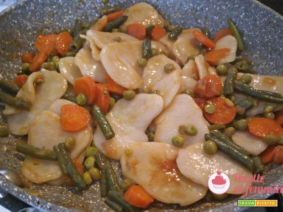 Gnocchi di riso e verdure vegani
