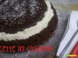 Torta bicolore cocco e cioccolato