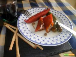 Peperoncini Cornetti ripieni di Acciughe Salate