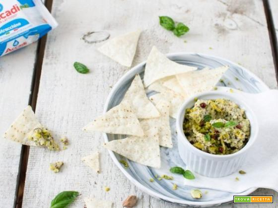 Dip pistacchi e stracchino : un'ottima salsa