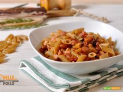 Pasta integrale con fagioli e pancetta