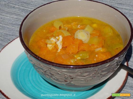 Zuppa di zucca e porri