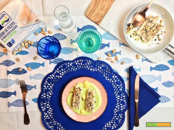 Merluzzo alla piastra con crema di avocado