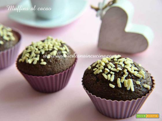 Muffins al cacao all'acqua