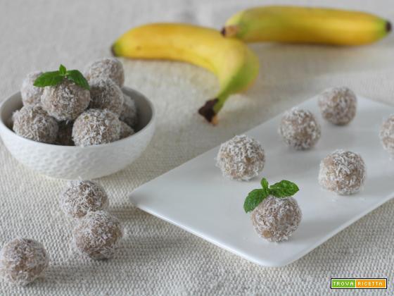 Tartufini vegan di banana e cocco glutenfree
