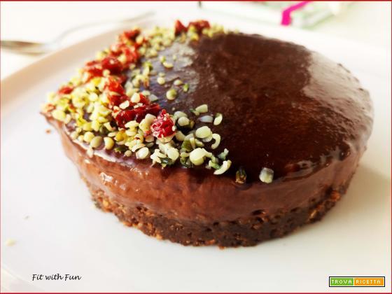 Cheesecake Semplice al Doppio Cioccolato senza Cottura né Gelatina