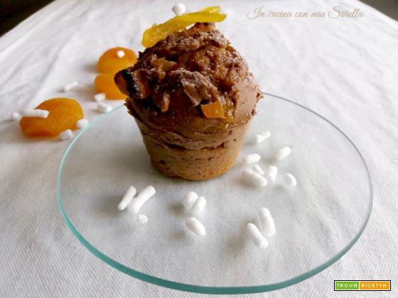 Muffin al cacao e albicocca disidratata