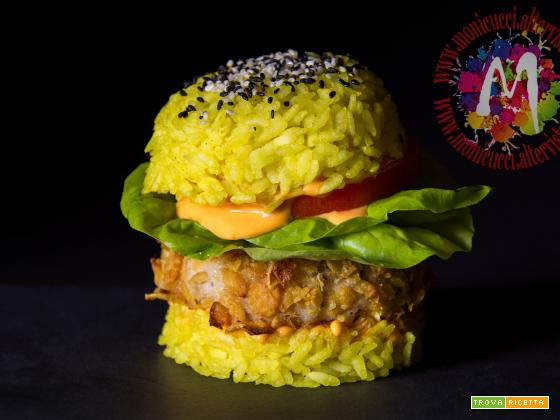 Chicken Cheese Rice Burger – I Menù del SorRISO