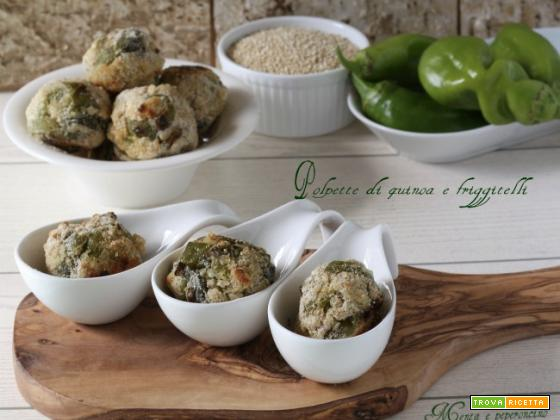 Polpette di quinoa e friggitelli