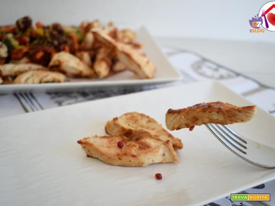 Petto di pollo con lime e pepe rosa