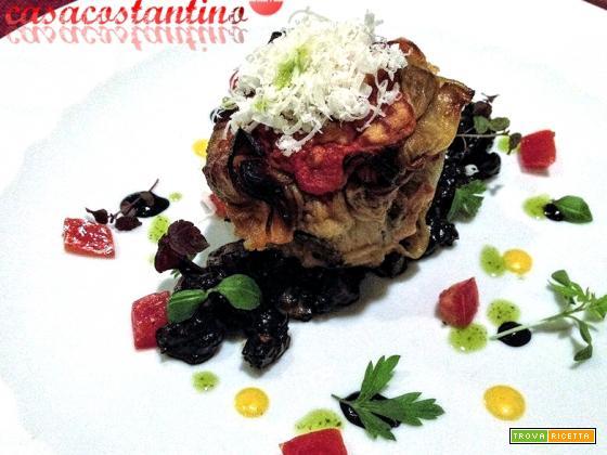 Parmigiana di pesce su ragù di seppie - Oggi cucina...Chef Ventimiglia