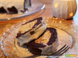 Tronchetto al mascarpone, torrone e pistacchi