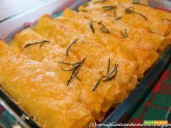 Cannelloni con pere e Buche de Chèvre