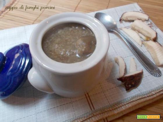 Zuppa di funghi porcini