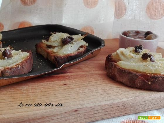 Bruschetta con finocchi ed olive