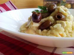 Risotto ai Funghi con Olive Leccino all'Abruzzese