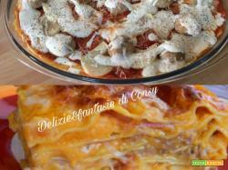 Lasagna con zucca salsiccia e besciamella