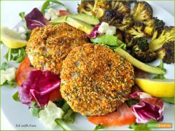 Hamburger o Polpette di Merluzzo con Panatura Low Carb e Gluten Free